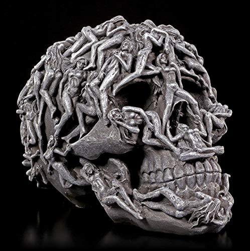 Höllen Totenkopf mit gequälten Seelen - Hell\'s Desire | Frauenkörper Schädel Figur Gothic