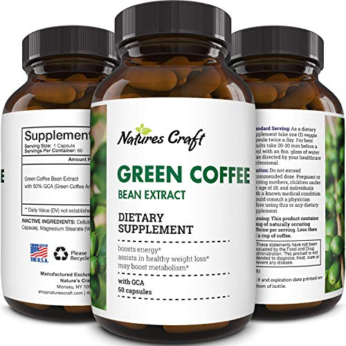 Natural Raw Green Coffee Bean Extract - Extra Strength Pure Premium Antioxidant Beans - 800 mg Max Fat Burner Supplement Super Cleanse Pills for Weight Loss Benefits Reviews 9
