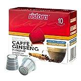 50 cápsulas Ristora Ginseng compatibles con cafeteras Nespresso.