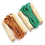 Cuerda de salto de madera de 2,5 m para el entrenamiento de la aptitud del estudiante Deportes de la competencia-verde