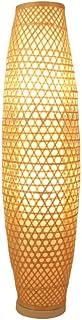 Lampadaires Bambou en osier en rotin Shade Lampadaire Lampadaire Rustique Japonais Art nordique Asiatique Luminaire Lumina...