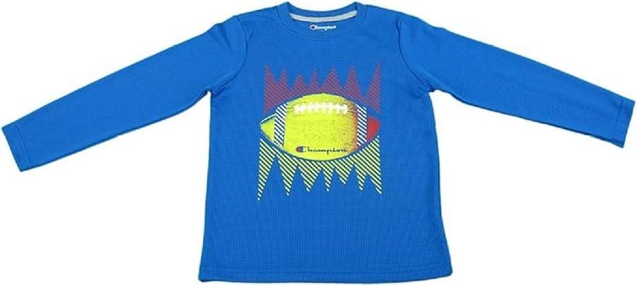 インディカよろめく戻るChampion Authentic Boys 4 Football Long Sleeve Shirt Team Blue