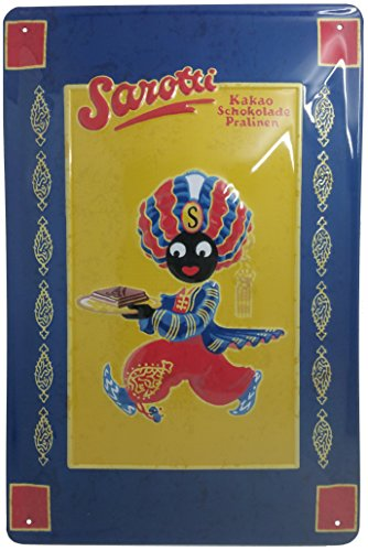 SAROTTI Schokolade Küche Blechschild Retro Original Nostalgie Werbung 20 x 30 cm