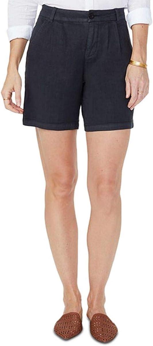 NYDJ Women's Relaxed Pleated Linen Short