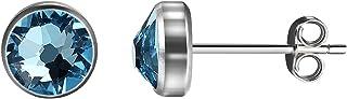 2Pcs Stud Earrings Crystal Body Piercing Jewelry for Hypoallergenic Multi-Piercing Ears For Women Men, Girls