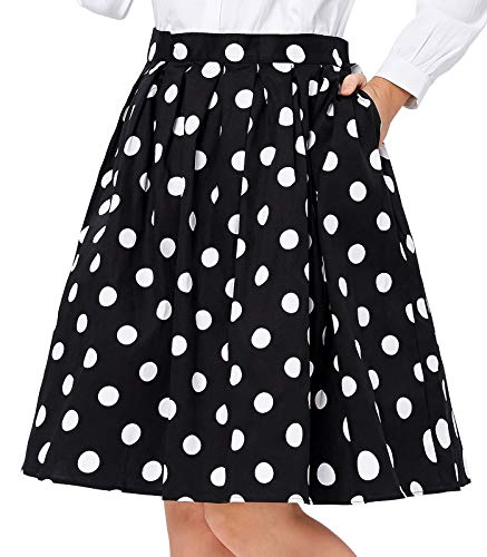 Polka Dot 50s Vintage Skirts for Women Short Size XL CL6294-2