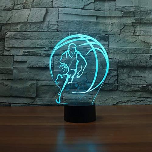YNYEZBH Luces de Colores 3D Forma de Baloncesto iluminación LED para Dormitorio luz Nocturna atmósfera luz Fantasma niños cumpleaños
