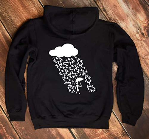 Hooded Jacket Kapuzenjacke Its raining cats and dogs