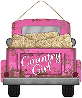 """Country Girl Camo Truck Wooden Sign 12"""" L x 11.5"""" H"""