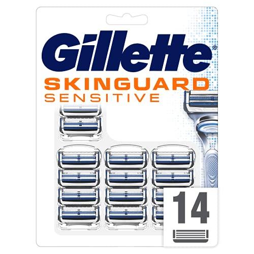 Gillette SkinGuard Sensitive Rasierklingen, klinisch getestet für empfindliche Haut, 14 Ersatzklingen
