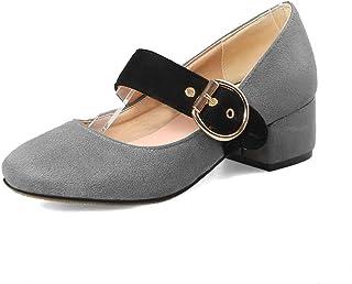 BalaMasa Womens APL12036 Pu Block Heels