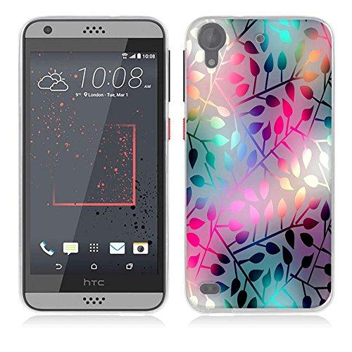 FUBAODA für HTC Desire 530 Hülle [Lichtdurchlässiges Glas] Kratzfeste Plating TPU Hülle für HTC Desire 530 Hülle Schutzhülle Silikon Crystal Hülle Durchsichtig für HTC Desire 530