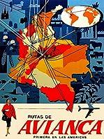 ERZAN1000ピース木製パズルコロンビアコロンビア南アメリカ Avianca地図旅行広告減圧ジグソーおもちゃキッズギフト