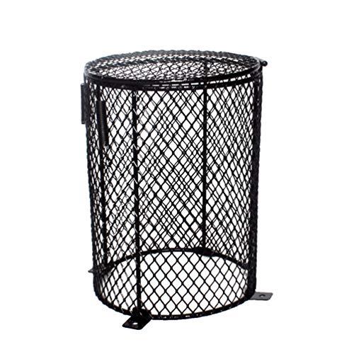 POPETPOP Jaula de Malla de Calor de Reptiles Protector lámpara de protección Bombilla Caja de terrario Redondo Cubierta de Malla de luz para arañas Hormigas lagartos