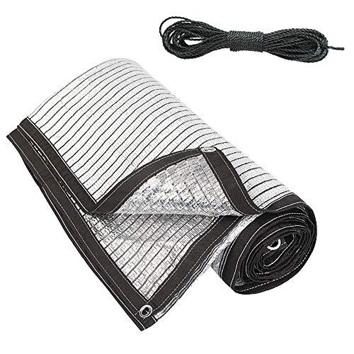 YXX-Filet d'ombrage Toile D'ombrage À Effet de Serre avec Fixations et Œillets - Feuille D'aluminium Réfléchir Nuances de Filet pour Abri D'auto, Arbres Et Plantes (Size : 3m×4m)