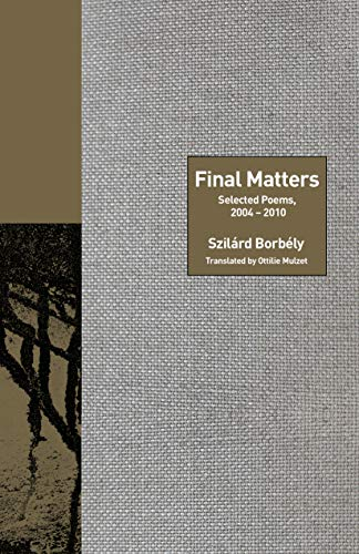 Image of Final Matters: Selected Poems, 2004-2010 (The Lockert Library of Poetry in Translation, 136)