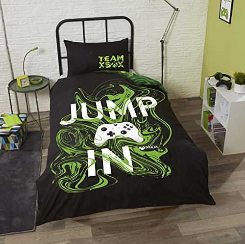 """Juego de funda de edredón para cama individual o doble de Xbox """"Jump In"""" (Individual)"""