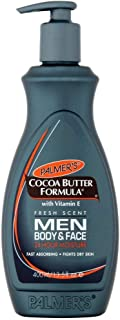 Palmer's Cocoa Butter Formula Men Body & Face Moisturizer 13.5 oz ( Pack of 3)