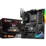 MSI Performance Gaming AMD Ryzen 1st, 2nd, and 3rd Gen AM4 M.2 USB 3.2 Gen 2 DDR4 HDMI Display Port Wi-Fi ATX Motherboard (B450 Gaming PRO Carbon MAX WiFi)