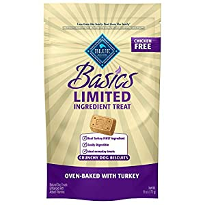 Blue Buffalo Basics Limited Ingredient Diet Biscuits Crunchy Dog Treats, Turkey & Potato 6-oz bag