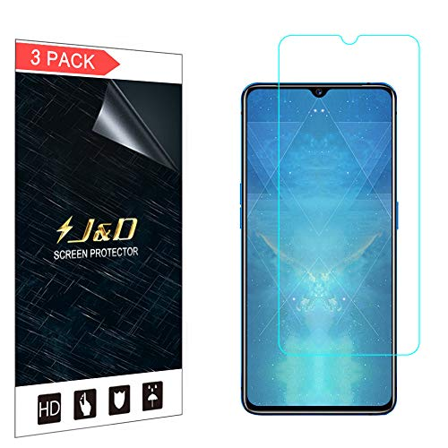 J&D Compatible para Realme X2 Pro Protector de Pantalla, 3 Paquetes [NO Cobertura Completa] Prima Escudo de Película Transparente HD Protector de Pantalla para Realme X2 Pro