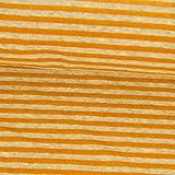 Nickistoff Streifen orange Winterstoffe Kinderstoffe