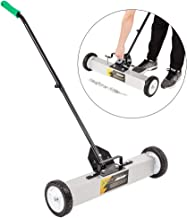 ROVSUN 24-Inch Rolling Magnetic Pick-Up Sweeper | 30-LBS Capacity, with Quick Release Latch & Adjustable Long Handle, for Nails Needles Screws Collection