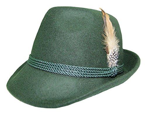 Dames klederdrachthoed met veer – mooie vilten hoed van wol voor dirndl lederhose Oktoberfest