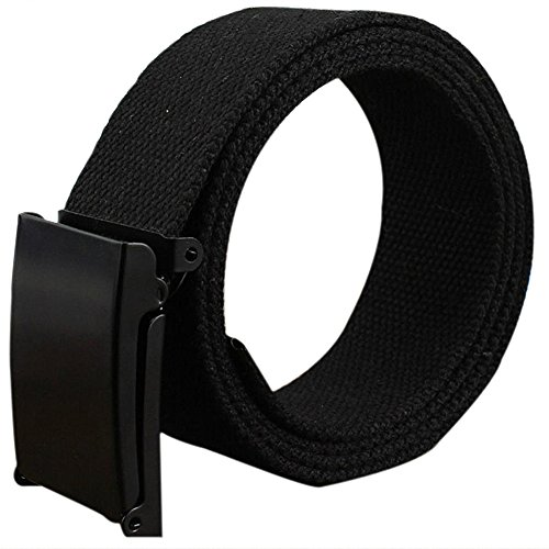 Gespout Gürtel für Herren und Damen, Stoff, schwarz, lässig, ohne Metall, 110 cm, für Sport, Reisen, Shopping, Jeans