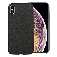 IPhone XRファブリックスタイルTPU保護シェルのための電話ケース Zoe's Shop (Color : Black)