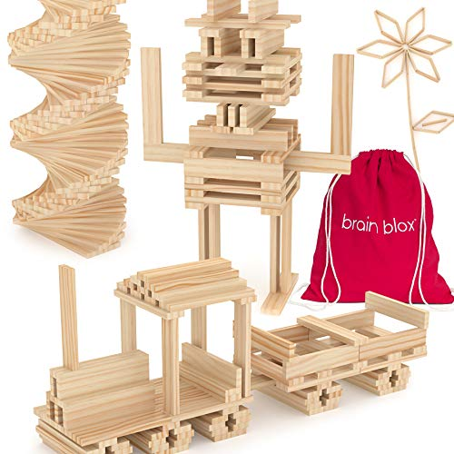 Brain Blox Wooden Building Blocks for Kids