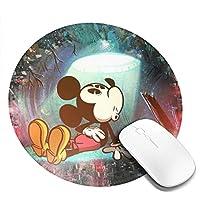 マウスパッド丸型 ゲーミングマウスパッド ディズニー ミッキーマウス パソコン 滑り止めゴム底 光学式マウス対応 オフィス最適 柔軟 かわいい 個性的 おしゃれ 防水 耐久性が良い