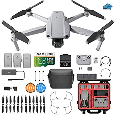 DJI Mavic Air 2 Fly More Combo - Drone Quadcopter UAV with 48MP Camera, 3 batteries, HardCase, 128gb SD Card, Lens Filters, Landing pad Kit with Must Have Accessories