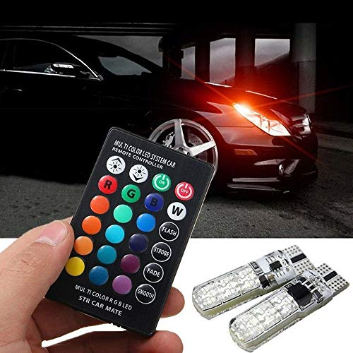 LXSTARS Luz De Espacio para El AutomóVil, RGB Led Luz De Espacio para El AutomóVil Bombilla De Lectura De CúPula LáMpara De AtmóSfera De Luz Interior AutomáTica