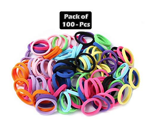 Grabdeal rubber bands for baby girls hair admirable set of 100 pieces...