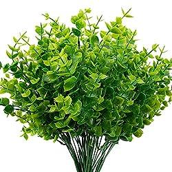 23 Plastic Boxwood Bush x7 Light Green Dark Green Trending Greenery Filler Artificial Fake Stem Pick Floral Bouquet Arrangement Supplies