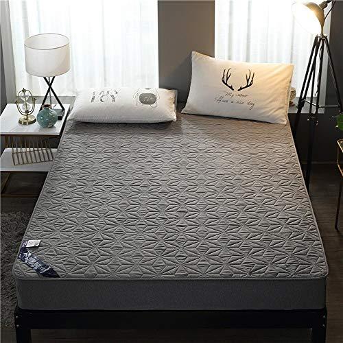 ABUKJM Funda de colchón impermeable, con banda elástica, antiácaros, protector de colchón impermeable, para colchón de cama, 220 x 200 cm