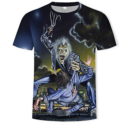 XJWDTX T-Shirt Manches Courtes Col Rond Imprimé 3D pour Hommes