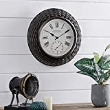 Best Outdoor Clocks - FirsTime & Co. Everly Rattan Outdoor Clock, American Review