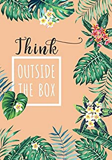 Think Outside The Box: B5 Large Print Password Notebook with A-Z Tabs | Medium Book Size | Tropical Leaf Design Orange