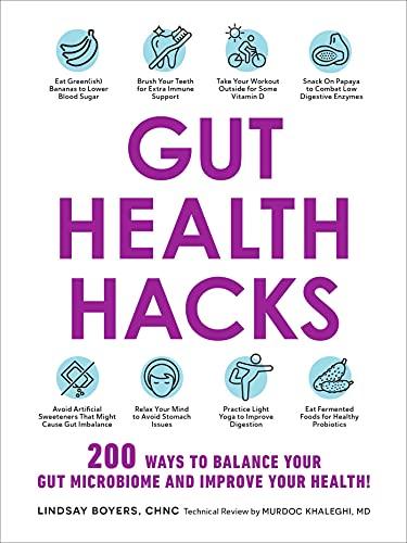 51efnKFEerS. SL500  - Gut Health Hacks: 200 Ways to Balance Your Gut Microbiome and Improve Your Health!