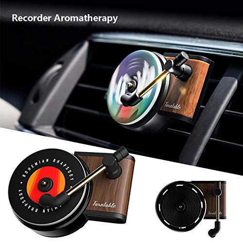 zhuangyulin6 Car Air Vent Duftdiffusor, Rekordauto-Aromatherapie, Plattenspieler Auto Parfüm Clip Lufterfrischer Phonograph Auto Air Vent