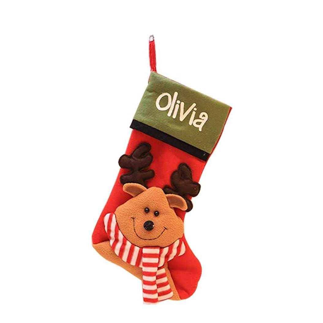 おなじみの底パラダイスクリスマス 靴下 ソックス ギフトバッグ クリスマスツリー 飾り キャンディ、お菓子?プレゼントなど入り 可愛い おしゃれ 雪だるま?トナカイ?天使 3種類選べる hjuns-Wu