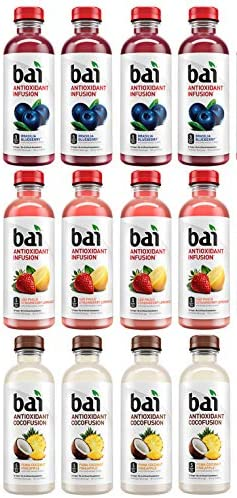 LUV BOX Variety BAI ANTIOXIDANT Water pack pack of 12 18 fl oz INFUSION BRASILIA BLUEBERRY COCOFUSION product image