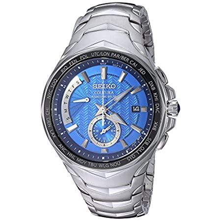 Fashion Shopping Seiko Men's COUTURA Japanese-Quartz Watch with Stainless-Steel Strap, Silver, 24 (Model: SSG019)
