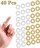 Fiyuer massageringe Finger 40 Pcs fingermassagering Finger Massage Ring stachelig Sensorische Fingerringe fingermassage Ring für Jugendliche Erwachsene Massager Gold Silber