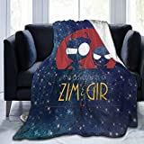 Andea Classic Invader Zim Gir Blanket Super Soft Couch Bed Throw The Perfect Caring Gift for Child Adults 60x50 Inch