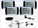 froggit Estación meteorológica profesional WH1080 SE Quattro (4 pantallas, pantalla táctil, USB, mástil para exteriores)