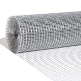 Nueve Deer 6ft x 100ft 1/2in Openging Hardware Cloth 19 Gauge, Hot Dipped Galvanized After Welding, Wire Mesh Roll Chicken Wire Fencing Wire Cloth Raised Garden Bed