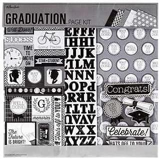 Graduation 12x12 Page Kit, 13 pcs, Scrapbook, Photo Album, Memory Page, Shadow Box, cards, celebration, college, high school, commencement